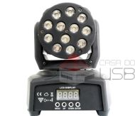 Moving Head 12 Leds Cree de 3w RGB