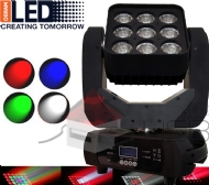 Moving Matrix 9 Leds de 15w RGBW Pan + Tilt Infinito