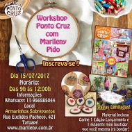 Workshop de Ponto Cruz com Marileny Pido