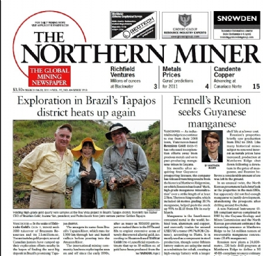 THE NORTHERN MINER - Assinatura ANUAL