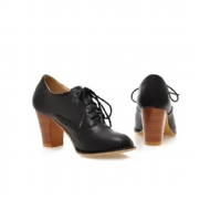 Sapatos femininos doce lace-up oxfords