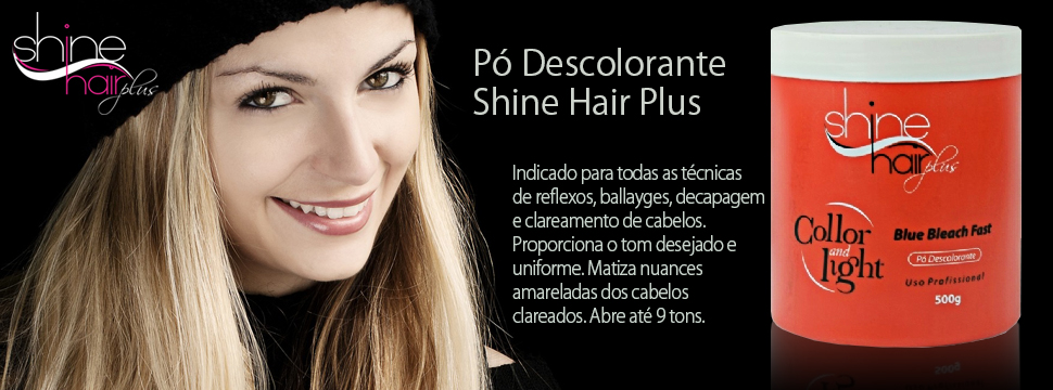 shine hair collor and light
