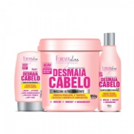 Forever Liss Professional Desmaia Cabelo - KIT PROFISSIONAL Anti Frizz e Volume - 3 prods