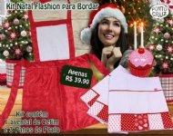 Kit Natal Fashion para bordar