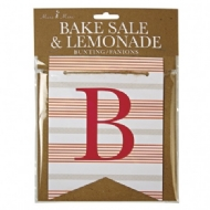 Bandeirola letras Bake Sale and Lemonade
