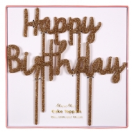 Enfeite de bolo - Happy Birthday