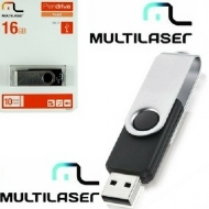 Pen drive Multilaser Twist Preto 16GB - PD588