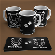 Caneca Logo Urso Wear